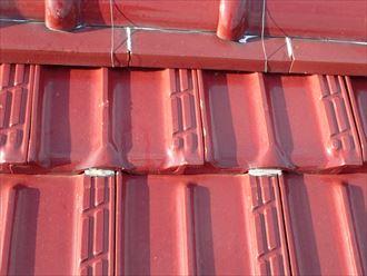 セメント瓦屋根のラバーロック工法