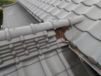 富津市 棟瓦の崩れ