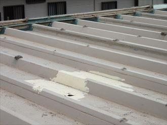 富津市 屋根の補修状況