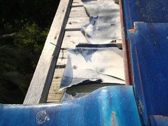 木更津市 瓦の剥がれ・防水紙の破れ