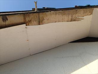 木更津市の軒天の剥がれ、原因は袖瓦の剥がれ