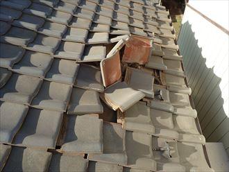 市原市 屋根への損傷