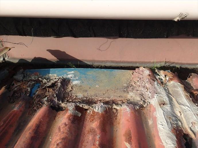 市原市 屋根の剥がれ