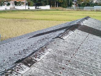 市原市 屋根材の飛散