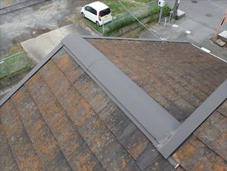 千葉市若葉区 他の箇所の棟板金の状態