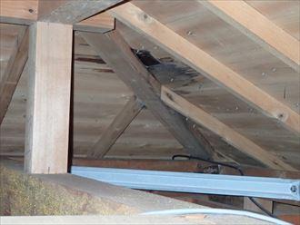 君津市 屋根からの雨水の浸水