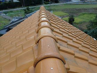 屋根からの漆喰の欠片、漆喰工事がで改善|袖ケ浦市
