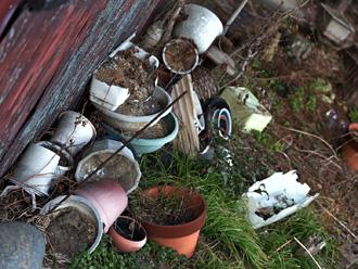 放置された植木鉢やプランター