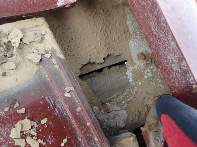 木更津市 雨漏りの原因・防水紙の劣化
