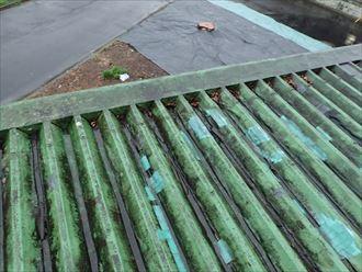 市原市 折板屋根の状況