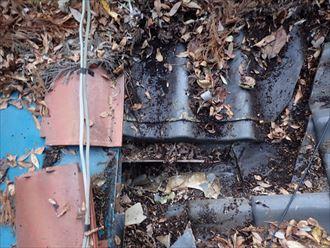 君津市 枯葉による雨水の排水不良