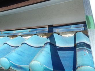 下屋の漆喰
