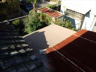 君津市 雨漏り箇所の屋根