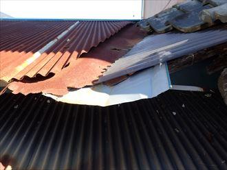 木更津市 雨漏り箇所上部の屋根の状況