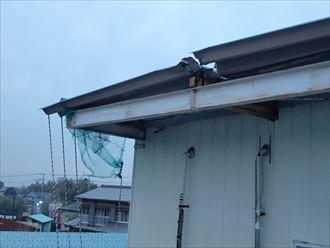 木更津市 折板屋根の剥がれ
