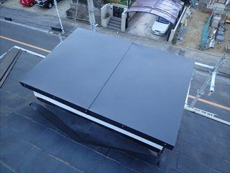 飾り煙突板金の外れ、新規板金設置に合わせて強度を向上|木更津市
