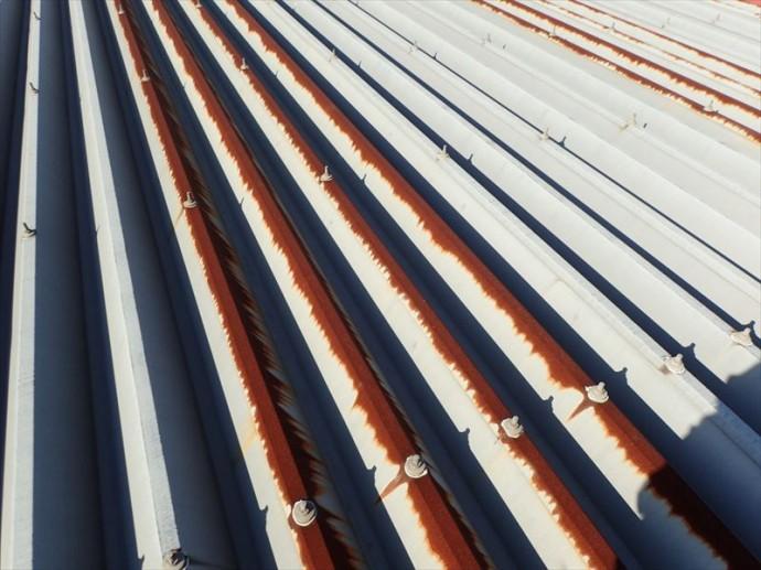 市原市 折板屋根の劣化