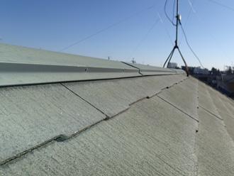 千葉市若葉区 スレート屋根の点検 色褪せした屋根