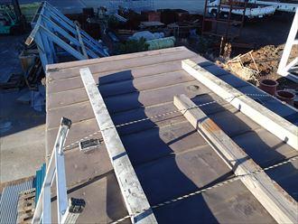 木更津市のユニットハウス雨漏り修理屋根カバー工法