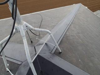 千葉市若葉区中田町にて台風被害、飛散した棟板金とその他を全交換アフター