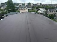 屋根カバー工法でずーパーガルテクトの屋根に