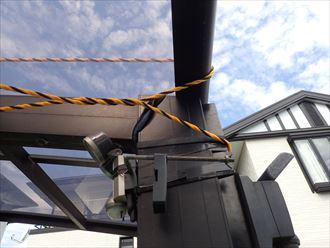 勝浦市 カーポート屋根の被災002_R