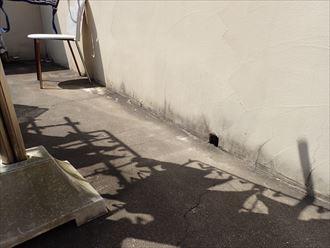 松戸市栗山で行った屋上陸屋根調査で排水口の詰まりは雨漏りの原因になりますので定期的に確認しましょう