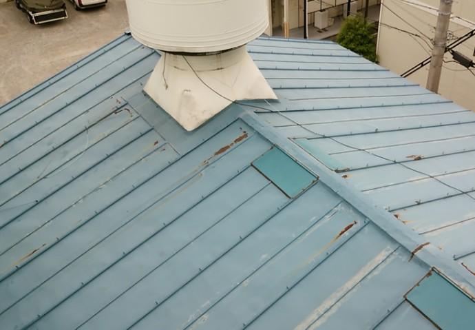 倉庫屋根補修