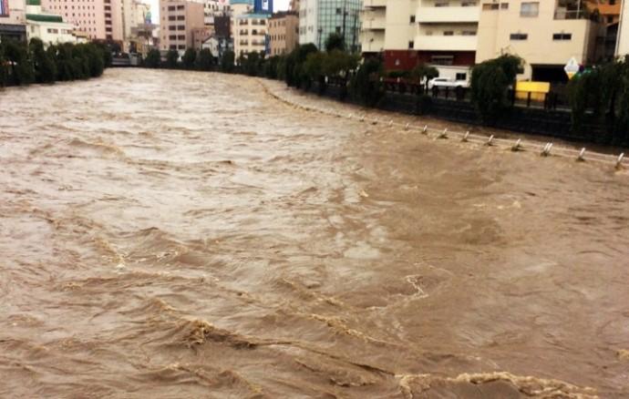 河川の増水