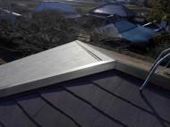 棟板金を交換したスレート屋根