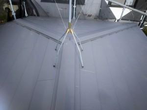 スーパーガルテクトで葺き替えられた屋根