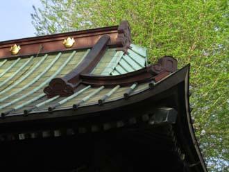 緑青の屋根