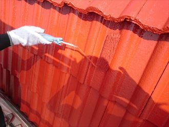 佐倉市 モニエル瓦の屋根塗装工事010_R
