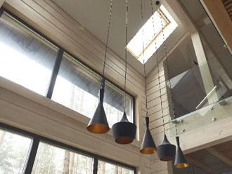 天井に取り付けられた天窓