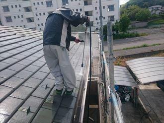 市原市 セメント瓦 屋根塗装工事005_R