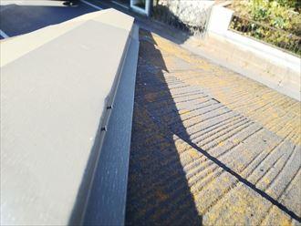 市原市南国分寺台で行った屋根調査で棟板金の釘の浮きを発見