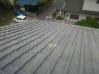 屋根葺き替え施工中