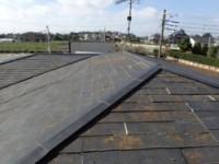 雨漏りしていたスレート屋根