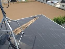 千葉市若葉区中田町にて台風被害、飛散した棟板金とその他を全交換ビフォー