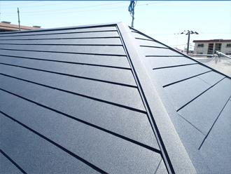 完工した屋根のアップ
