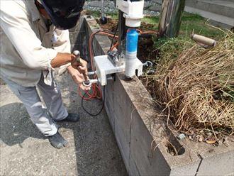 君津市で屋根リフォームと同時にフェンスの設置も着工