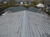 屋根カバー工法前のスレート屋根