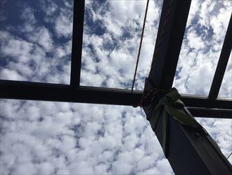 勝浦市 カーポート屋根の被災005_R
