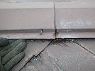 君津市中島にて棟板金交換工事を行いました、台風通過後などには点検をお勧めします
