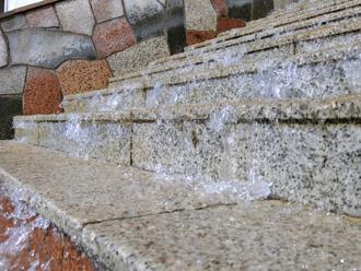 階段の冠水