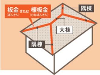 棟板金の全体図、の調査実施