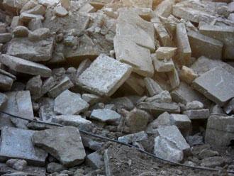 震災後のコンクリ瓦礫
