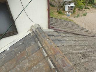 長生郡白子町にて棟瓦の取り直し工事、昨年の台風から続いた雨漏りのお悩み解消ビフォー