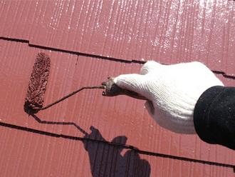 好みの色で屋根塗装