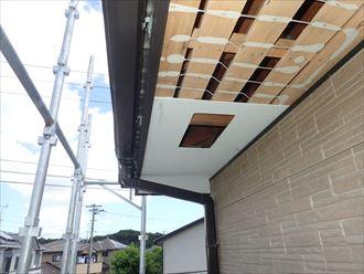 木更津市のH様邸の軒天張替工事が完了しました